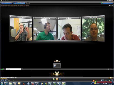 Snimak zaslona ooVoo Windows XP