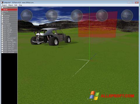 Snimak zaslona 3D Rad Windows XP