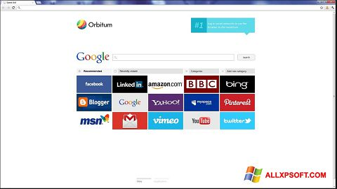 Snimak zaslona Orbitum Windows XP