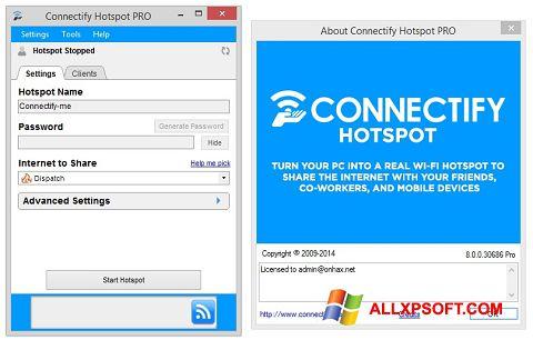 Snimak zaslona Connectify Windows XP
