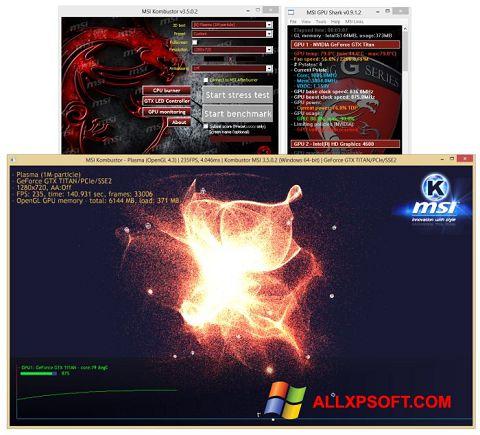 Snimak zaslona MSI Kombustor Windows XP
