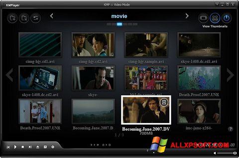 Snimak zaslona KMPlayer Windows XP