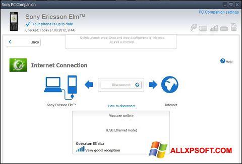 Snimak zaslona Sony PC Companion Windows XP