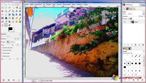 Snimak zaslona GIMP Windows XP