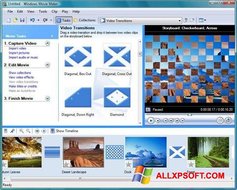 Snimak zaslona Windows Movie Maker Windows XP