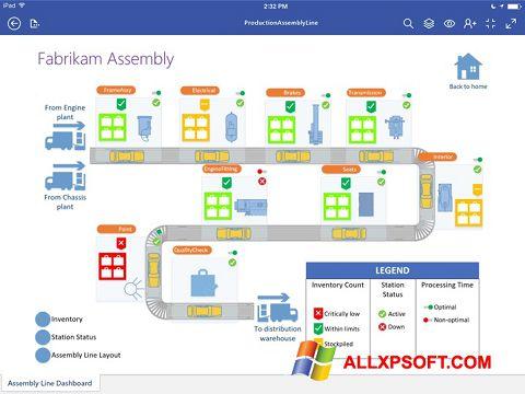 Snimak zaslona Microsoft Visio Viewer Windows XP