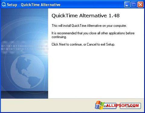 Snimak zaslona QuickTime Alternative Windows XP