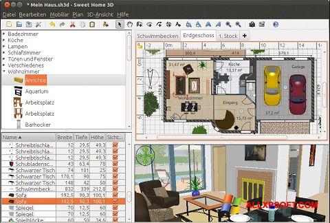 Snimak zaslona Sweet Home 3D Windows XP