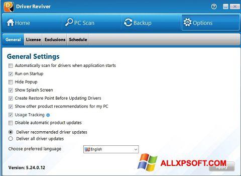 Snimak zaslona Driver Reviver Windows XP