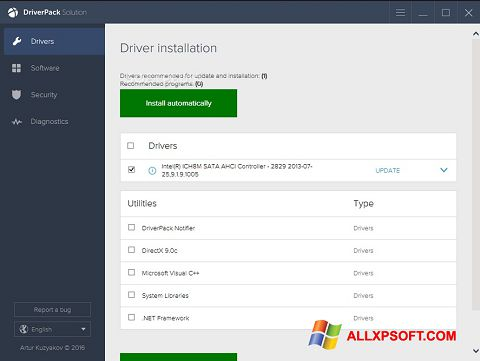 Snimak zaslona DriverPack Solution Windows XP