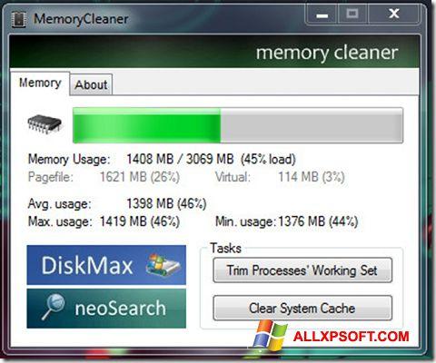 Snimak zaslona Memory Cleaner Windows XP