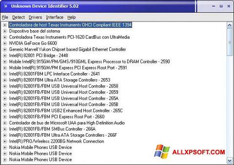 Snimak zaslona Unknown Device Identifier Windows XP