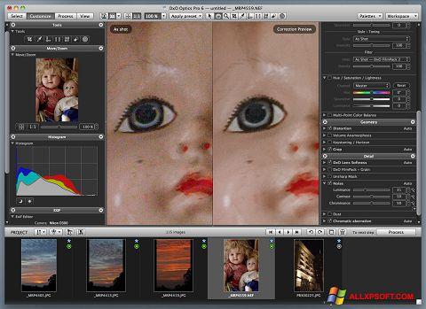 Snimak zaslona DxO Optics Pro Windows XP