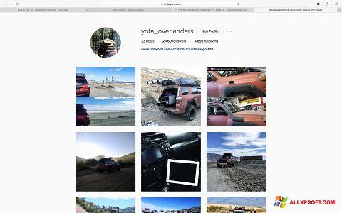 Snimak zaslona Instagram Windows XP