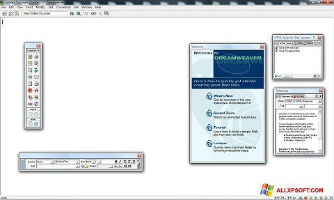 Snimak zaslona Macromedia Dreamweaver Windows XP