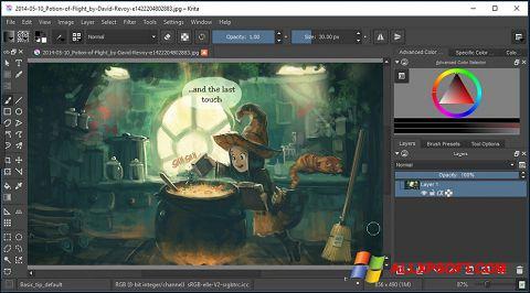Snimak zaslona Krita Windows XP