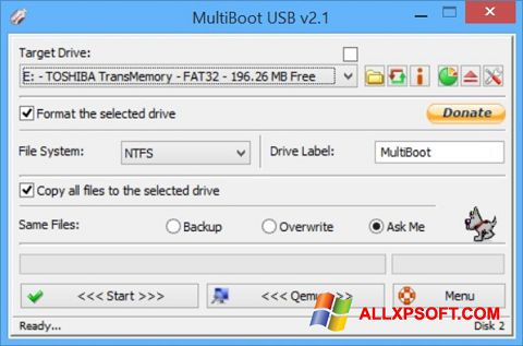 Snimak zaslona Multi Boot USB Windows XP