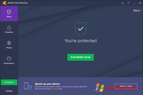 Snimak zaslona Avast Free Antivirus Windows XP
