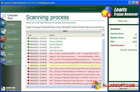 Snimak zaslona Trojan Remover Windows XP