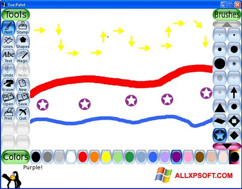 Snimak zaslona Tux Paint Windows XP