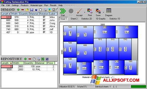 Snimak zaslona Cutting Windows XP