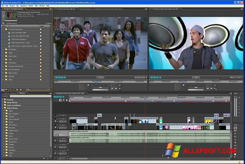 Snimak zaslona Adobe Premiere Pro Windows XP
