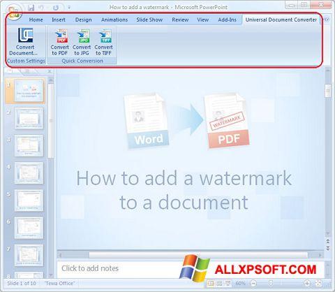 Snimak zaslona Microsoft PowerPoint Windows XP