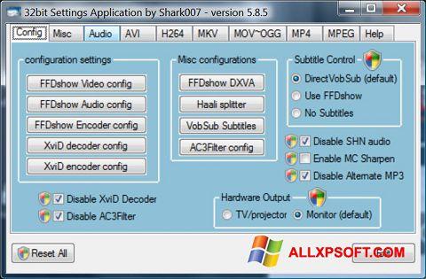 Snimak zaslona Vista Codec Package Windows XP