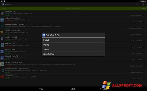 Snimak zaslona InstAllAPK Windows XP