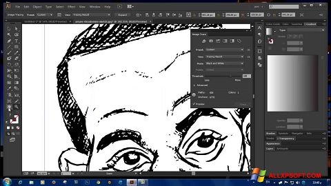 Snimak zaslona Adobe Illustrator CC Windows XP