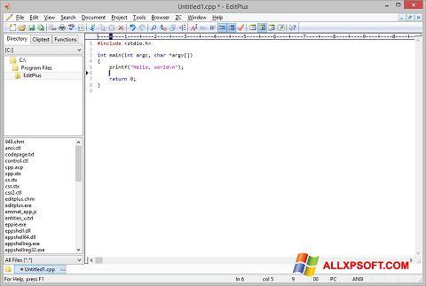 Snimak zaslona EditPlus Windows XP