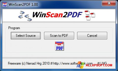 Snimak zaslona WinScan2PDF Windows XP