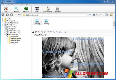 Snimak zaslona File Repair Windows XP