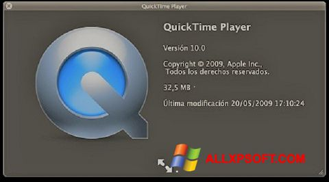 Snimak zaslona QuickTime Windows XP