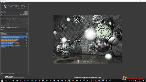 Snimak zaslona CINEBENCH Windows XP