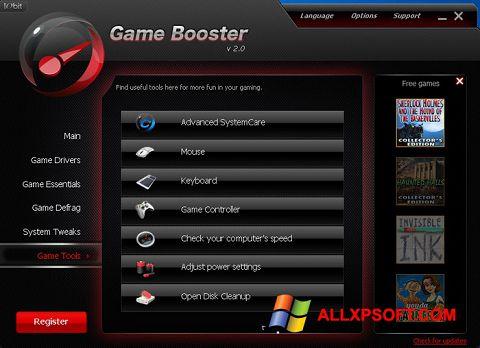 Snimak zaslona Game Booster Windows XP