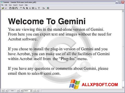 Snimak zaslona Gemini Windows XP