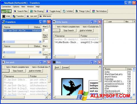 Snimak zaslona Soulseek Windows XP