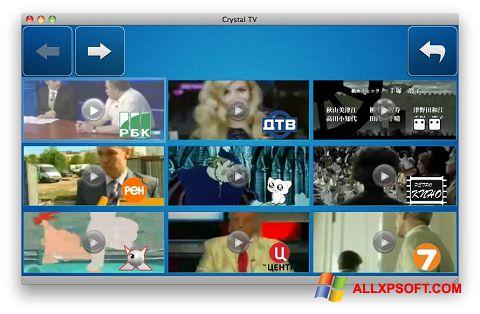 Snimak zaslona Crystal TV Windows XP