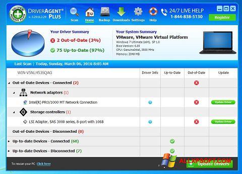 Snimak zaslona DriverAgent Windows XP