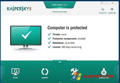 Snimak zaslona Kaspersky Free Antivirus Windows XP