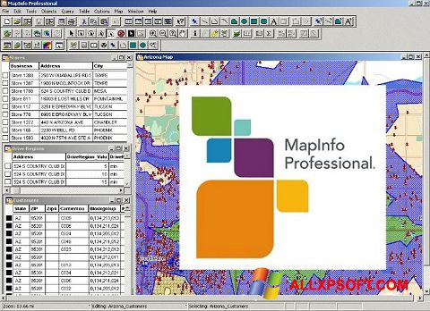 Snimak zaslona MapInfo Professional Windows XP