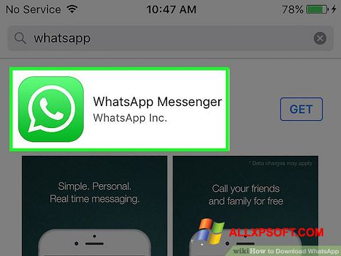 Snimak zaslona WhatsApp Windows XP
