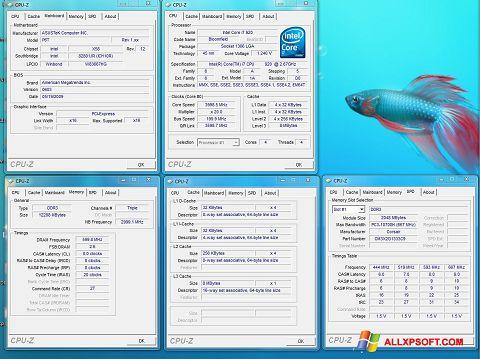 Snimak zaslona CPU-Z Windows XP