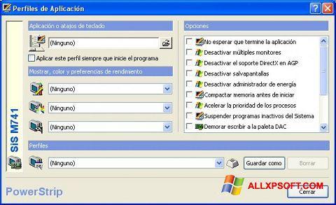 Snimak zaslona PowerStrip Windows XP
