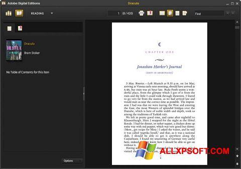 Snimak zaslona Adobe Digital Editions Windows XP