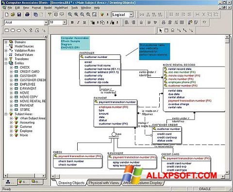Snimak zaslona ERWin Windows XP