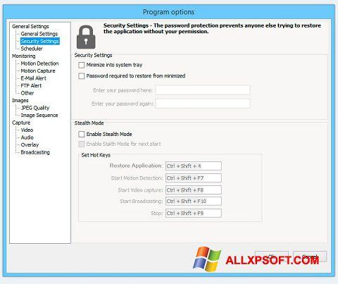 Snimak zaslona Webcam Surveyor Windows XP