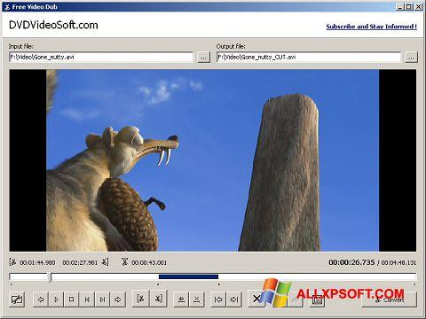 Snimak zaslona Free Video Dub Windows XP