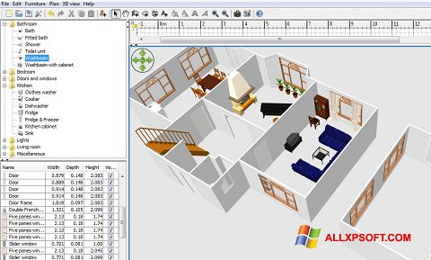 Snimak zaslona FloorPlan 3D Windows XP